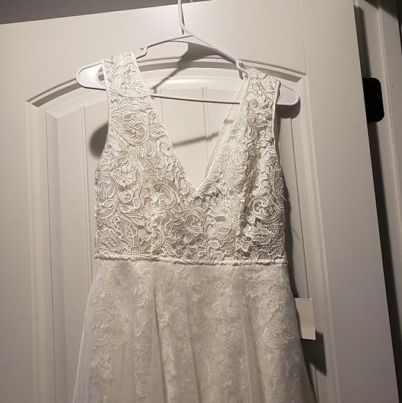 9c6d73ecc47 Lulu s minnie white lace maxi